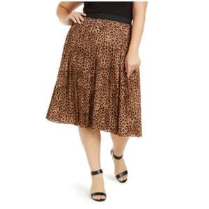 Charter Club Plus animal print skirt